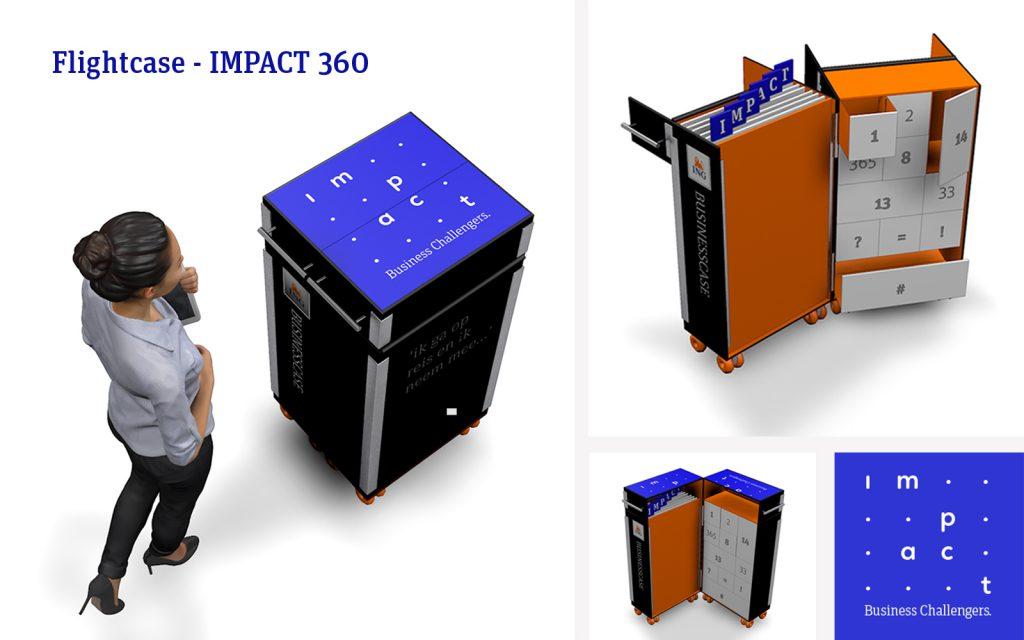 Ten slotte is de hele blauwdruk vastgelegd in een Concept Masterplan 360. Hierin beschrijven we in detail de belevingsmomenten van de 6 stappen van Impact 360 toegepast in de fysieke omgeving van Impact. Zie project: Concept Masterplan 360
